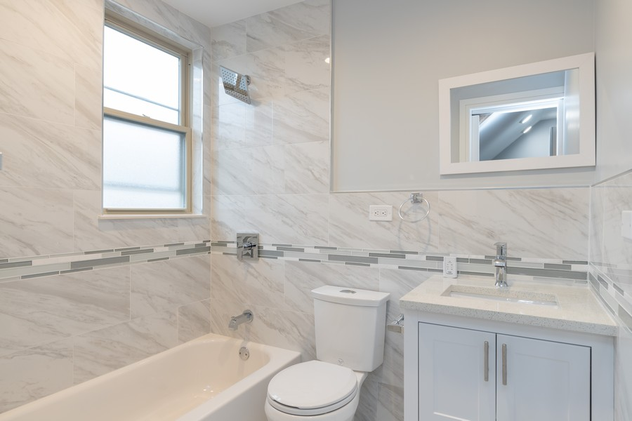 Real Estate Photography - 6112 S Kedvale Ave, Chicago, IL, 60629 - 2nd Bathroom