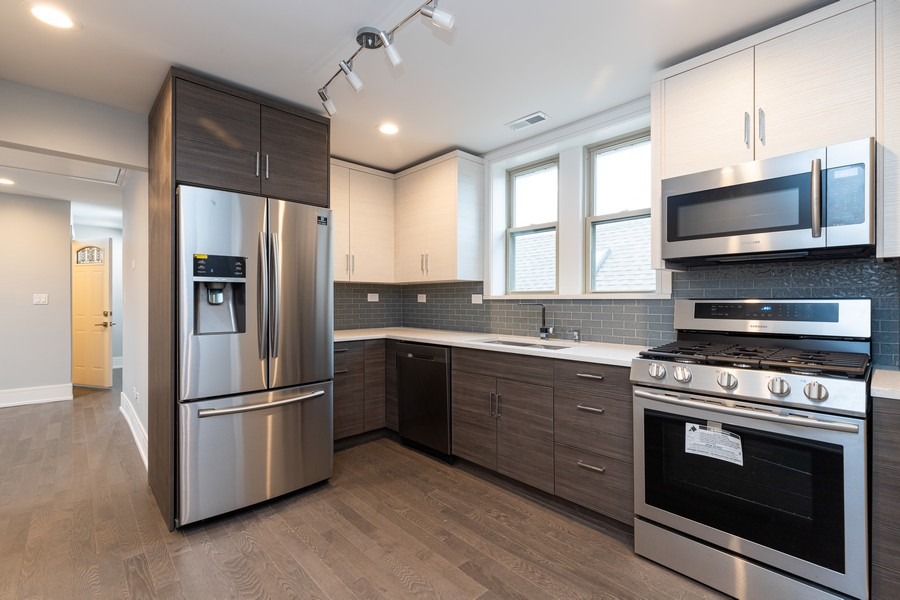 Real Estate Photography - 6112 S Kedvale Ave, Chicago, IL, 60629 - Kitchen / Dining Room