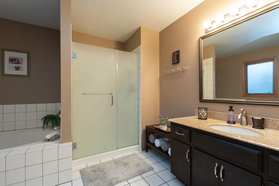 Real Estate Photography - 1956 Cornell, New Lenox, IL, 60451 - Master Bathroom