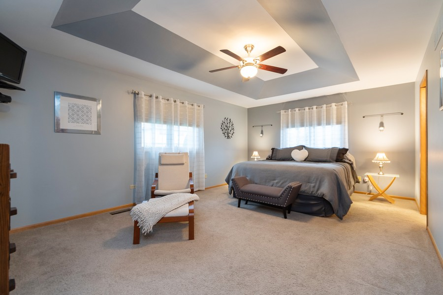 Real Estate Photography - 1956 Cornell, New Lenox, IL, 60451 - Master Bedroom
