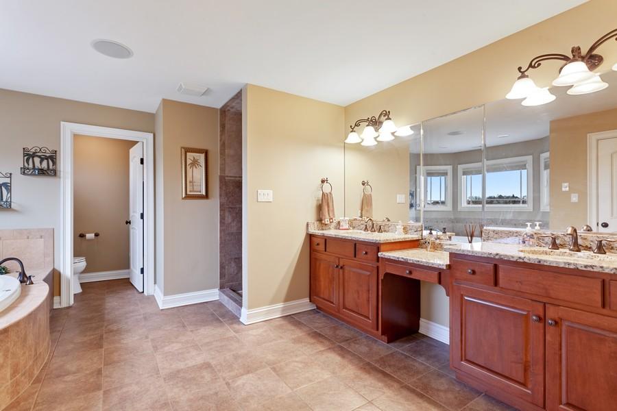 Real Estate Photography - 16200 Syd Creek Drive, Homer Glen, IL, 60491 - Master Bathroom