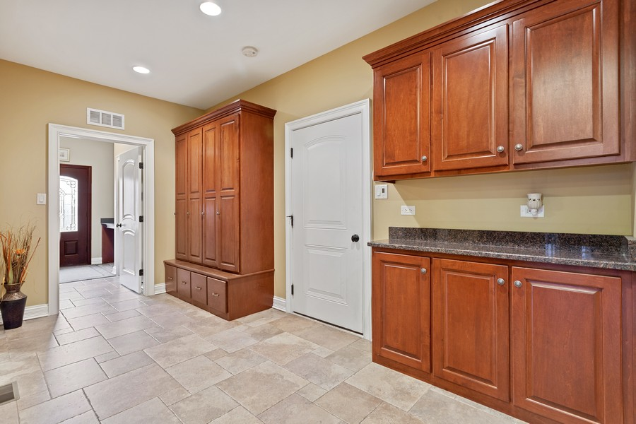 Real Estate Photography - 16200 Syd Creek Drive, Homer Glen, IL, 60491 - Mudroom