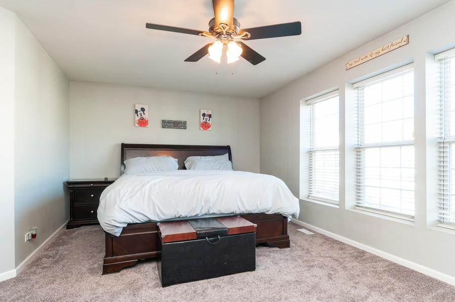 Real Estate Photography - 108 Devoe, Oswego, IL, 60543 - Master Bedroom