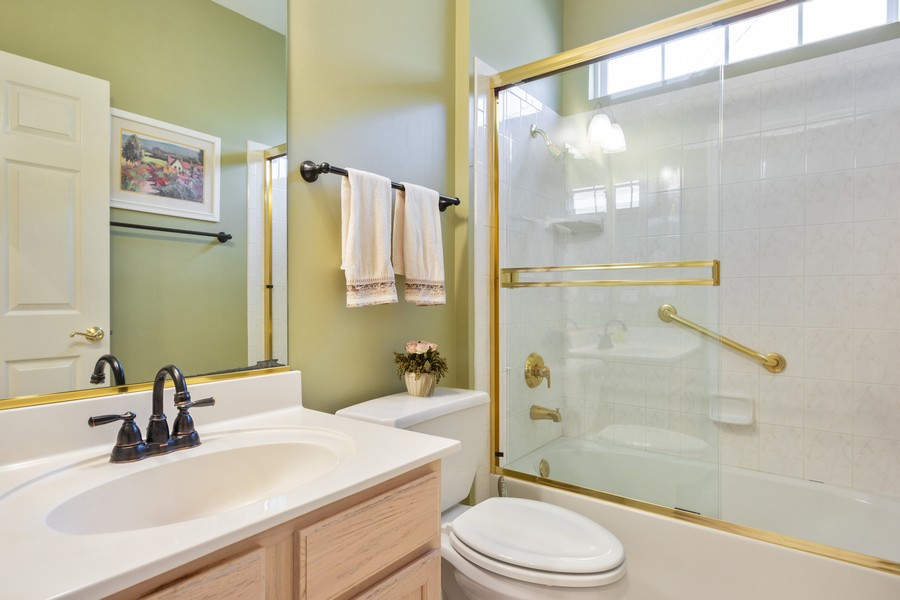 Real Estate Photography - 708 Ponds Ct., Oswego, IL, 60543 - Bathroom