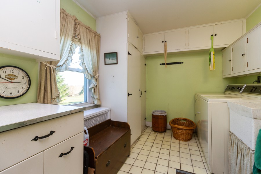 Real Estate Photography - 14828 E 1500 N, Grant Park, IL, 60940 - Laundry Room