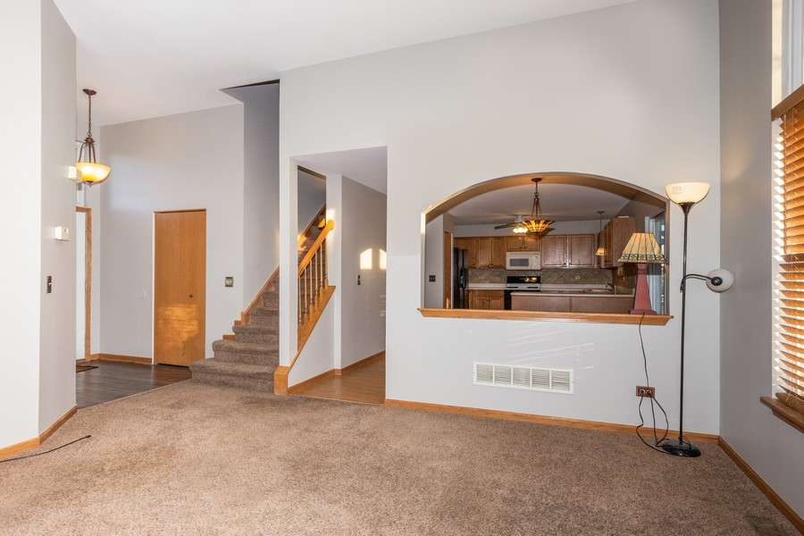 Real Estate Photography - 5614 Cider Grove Court, Plainfield, IL, 60586 - Living Room