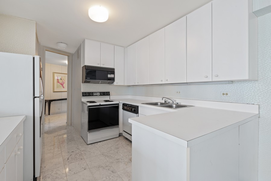 Real Estate Photography - 505 N Lakeshore, Unit 1801, Chicago, IL, 60611 - Kitchen
