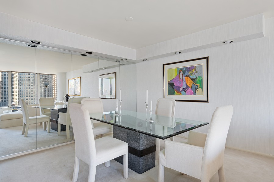 Real Estate Photography - 505 N Lakeshore, Unit 1801, Chicago, IL, 60611 - Dining Room