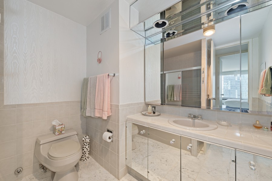 Real Estate Photography - 505 N Lakeshore, Unit 1801, Chicago, IL, 60611 - Bathroom