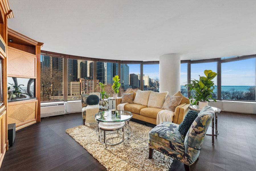 Real Estate Photography - 505 N Lakeshore, Unit 503, Chicago, IL, 60611 - Living Room