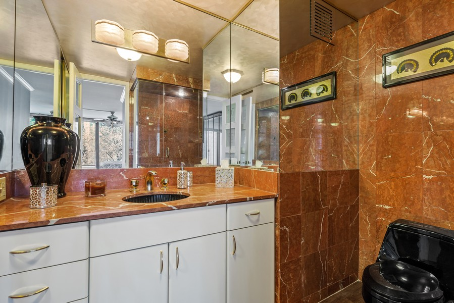 Real Estate Photography - 505 N Lakeshore, Unit 503, Chicago, IL, 60611 - Master Bathroom
