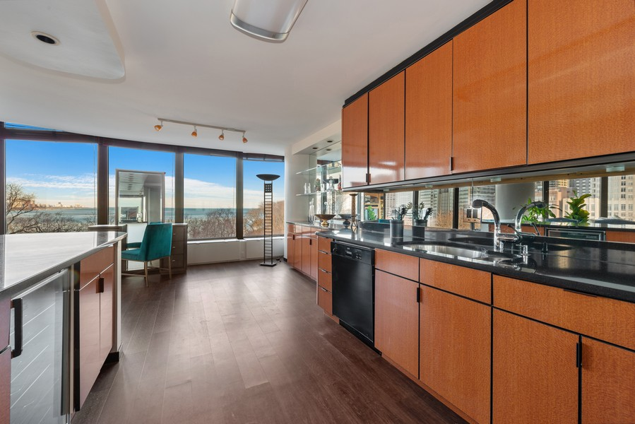 Real Estate Photography - 505 N Lakeshore, Unit 503, Chicago, IL, 60611 - Kitchen