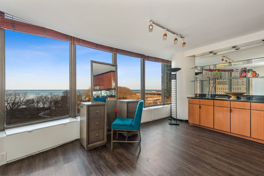 Real Estate Photography - 505 N Lakeshore, Unit 503, Chicago, IL, 60611 - Dining Room