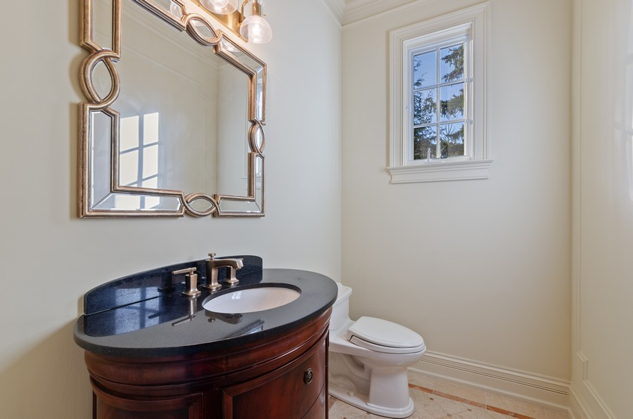 Real Estate Photography - 114 Mary St, Winnetka, IL, 60093 - Powder Room