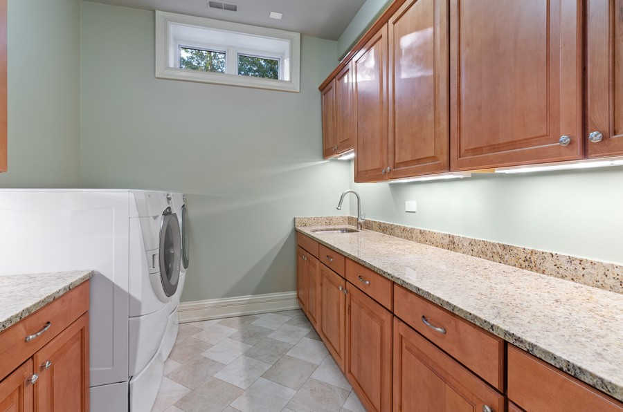 Real Estate Photography - 114 Mary St, Winnetka, IL, 60093 - Laundry Room