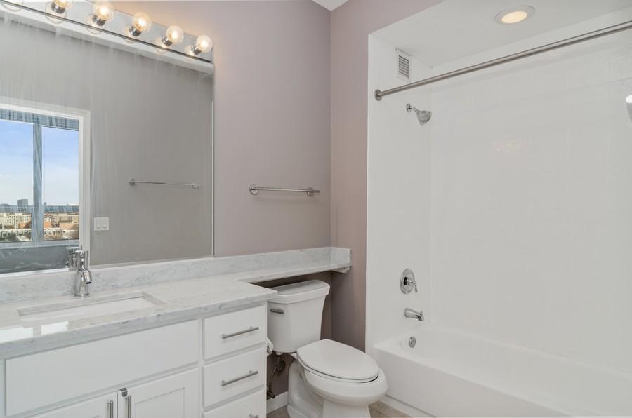 Real Estate Photography - 421 W Huron, Unit 1503, Chicago, IL, 60654 - Master Bathroom