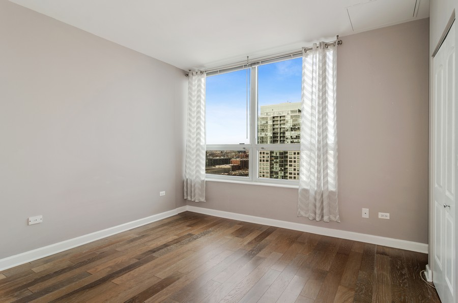 Real Estate Photography - 421 W Huron, Unit 1503, Chicago, IL, 60654 - Master Bedroom