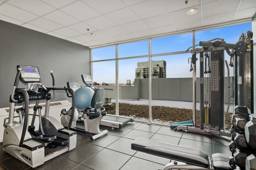 Real Estate Photography - 421 W Huron, Unit 1503, Chicago, IL, 60654 - Fitness Center