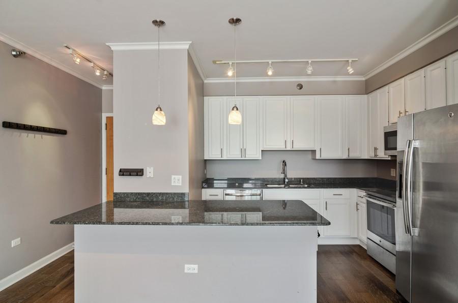 Real Estate Photography - 421 W Huron, Unit 1503, Chicago, IL, 60654 - Kitchen