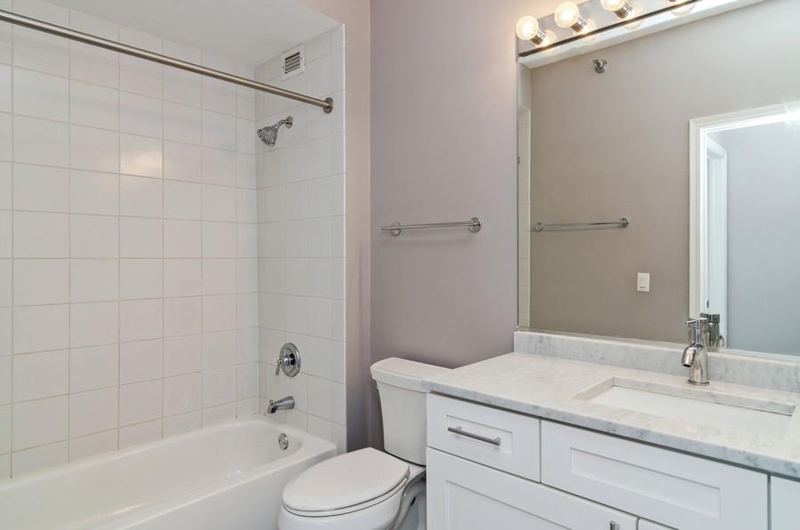 Real Estate Photography - 421 W Huron, Unit 1503, Chicago, IL, 60654 - Bathroom
