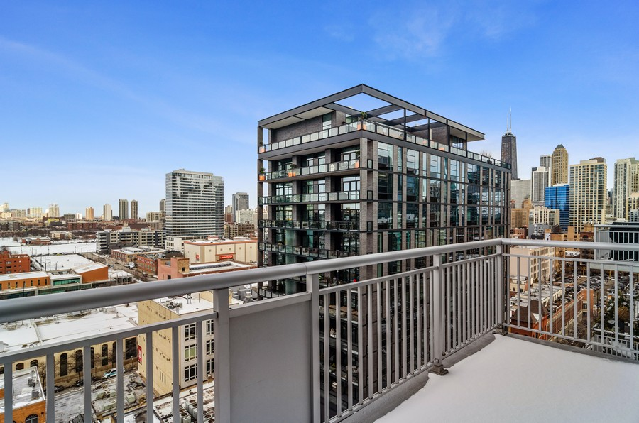 Real Estate Photography - 421 W Huron, Unit 1503, Chicago, IL, 60654 - Balcony
