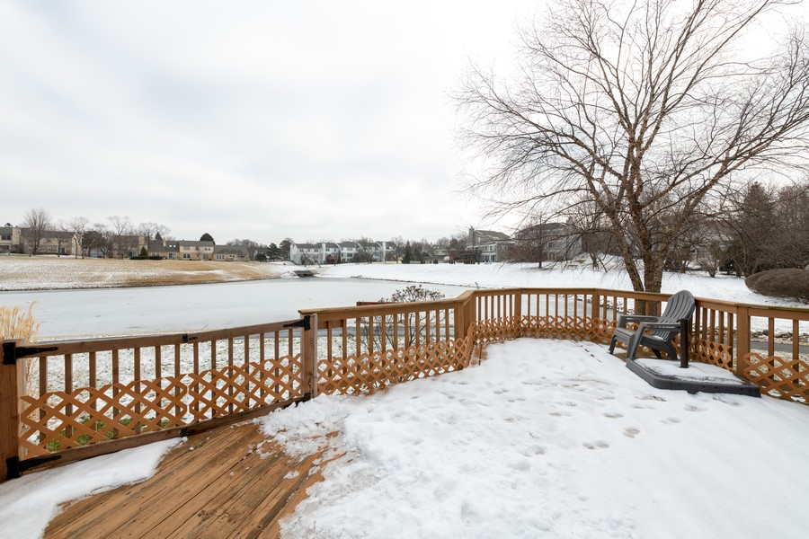 Real Estate Photography - 1718 Coach Drive, Naperville, IL, 60565 - Deck