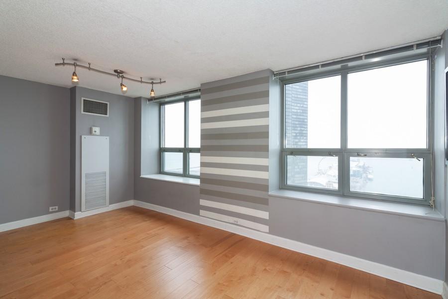 Real Estate Photography - 474 Lake Shore Dr #3112, Chiucago, IL, 60611 - Living Room