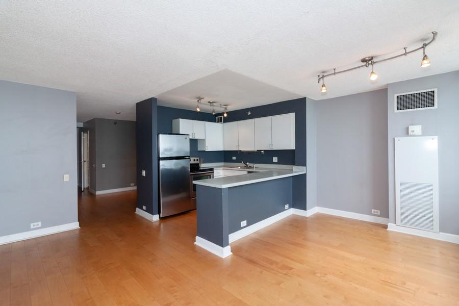 Real Estate Photography - 474 Lake Shore Dr #3112, Chiucago, IL, 60611 - Kitchen/Living