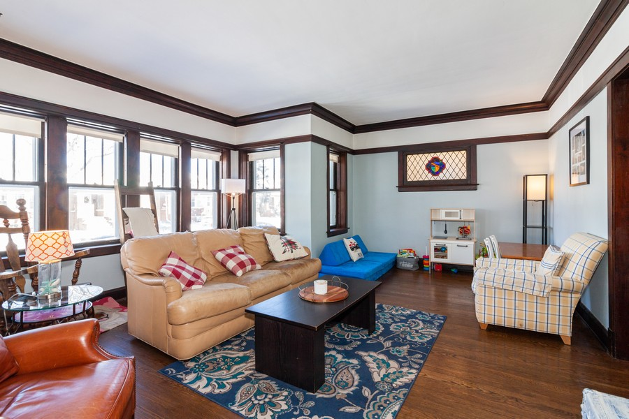 Real Estate Photography - 5929 West Grace, Chicago, IL, 60634 - Living Room