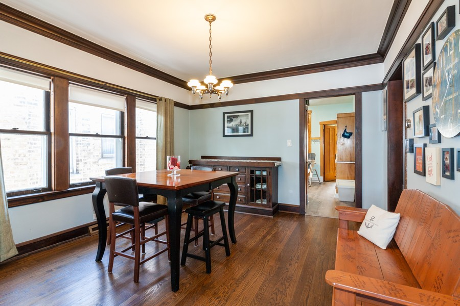 Real Estate Photography - 5929 West Grace, Chicago, IL, 60634 - Dining Area