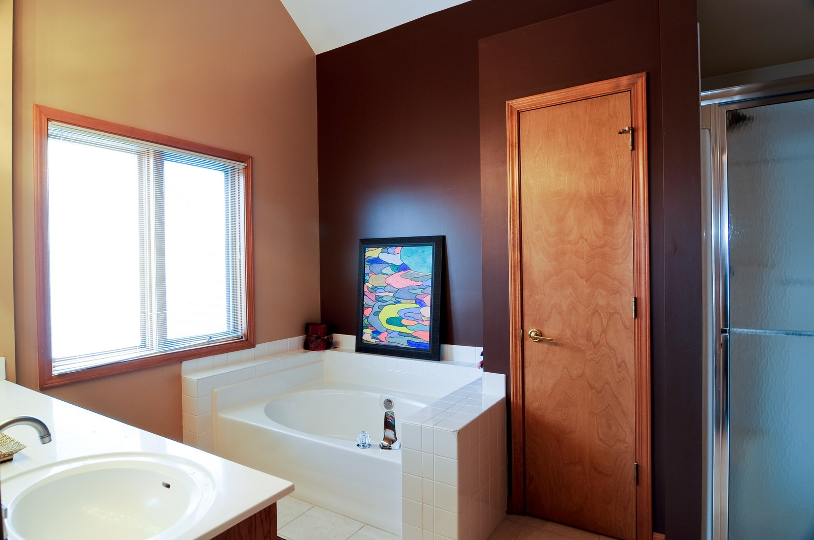 Real Estate Photography - 26W011 Quail Run Drive, Wheaton, IL, 60187 - Master Bathroom