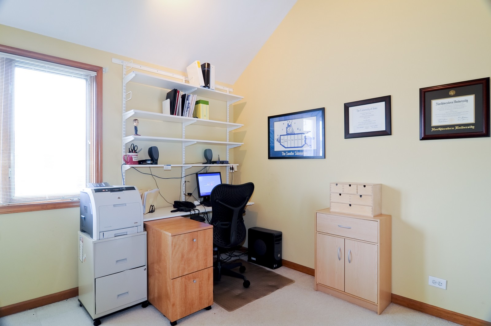 Real Estate Photography - 26W011 Quail Run Drive, Wheaton, IL, 60187 - Office