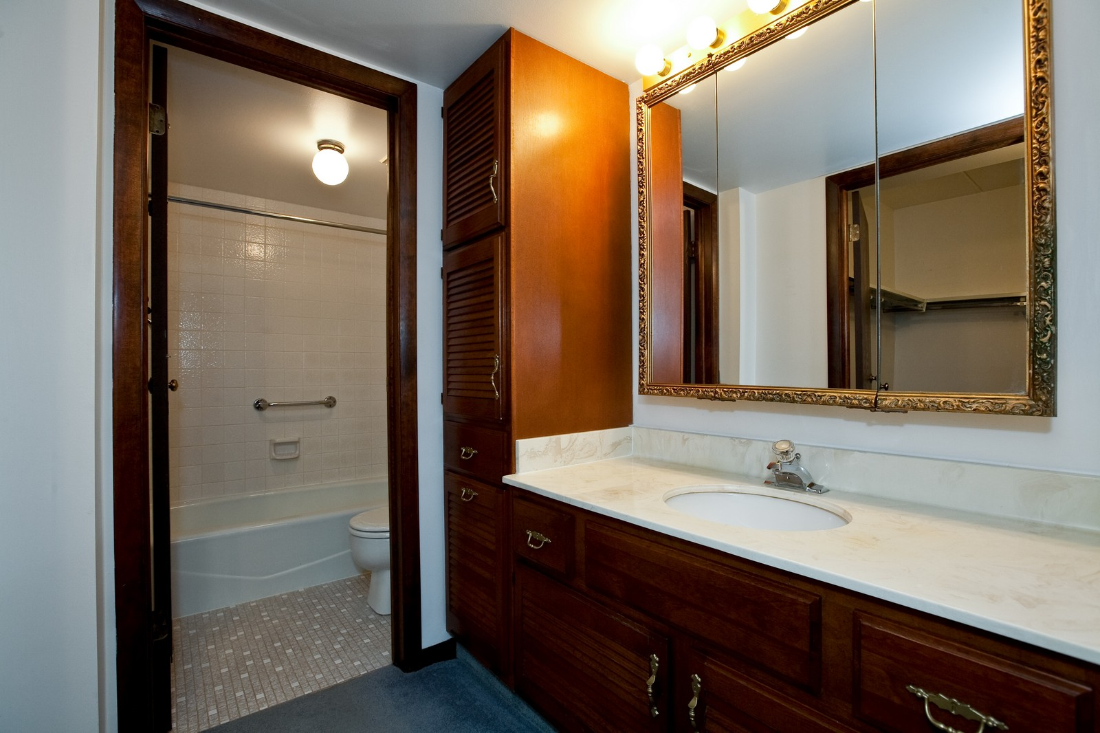 Real Estate Photography - 35 Shawnee Trl, Indian Head Park, IL, 60525 - Master Bathroom