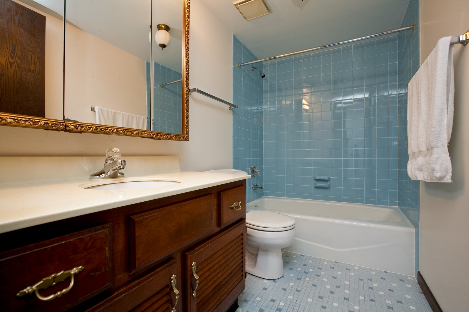 Real Estate Photography - 35 Shawnee Trl, Indian Head Park, IL, 60525 - Bathroom