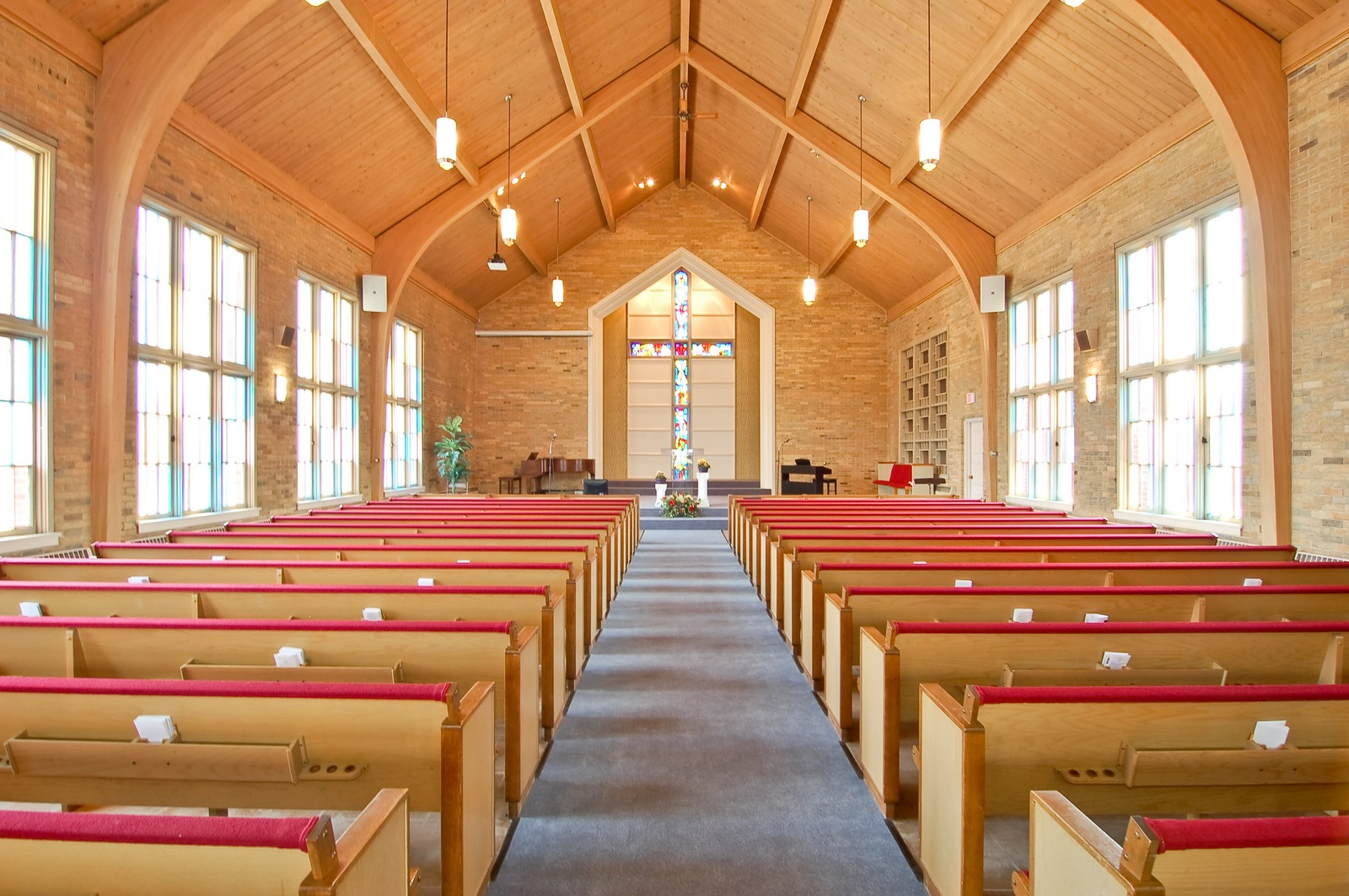 Real Estate Photography - 7534 W Berwyn Ave, Chicago, IL, 60656 - Main Sanctuary