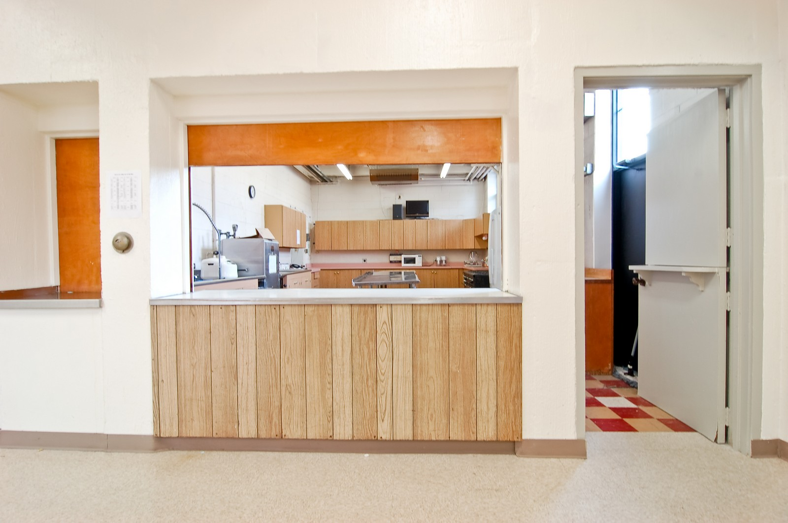 Real Estate Photography - 7534 W Berwyn Ave, Chicago, IL, 60656 - Kitchen in Fellowship Hall