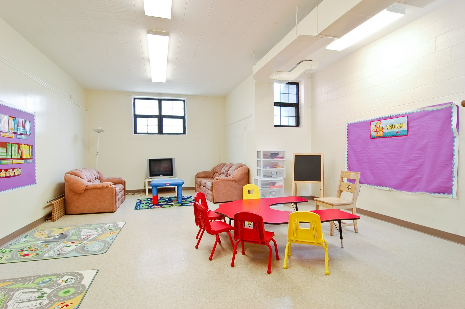 Real Estate Photography - 7534 W Berwyn Ave, Chicago, IL, 60656 - Children's Classroom Lower Level