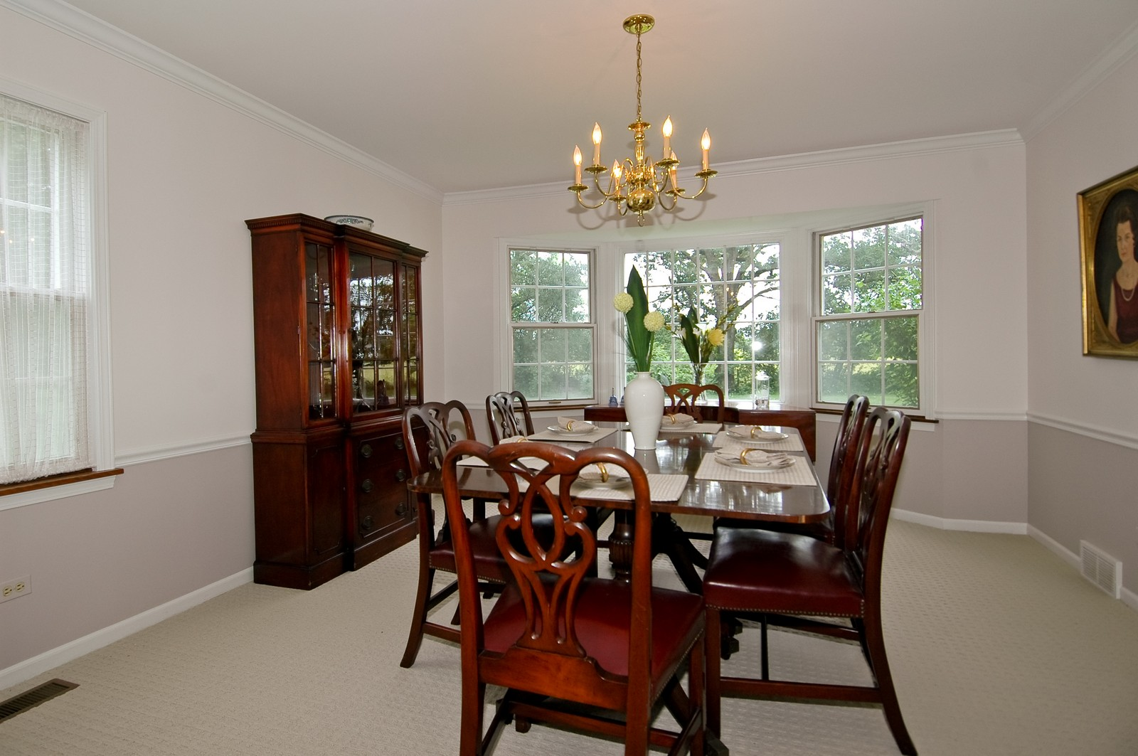 Real Estate Photography - 2785 Chapel, Barrington Hills, IL, 60010 - Dining Room