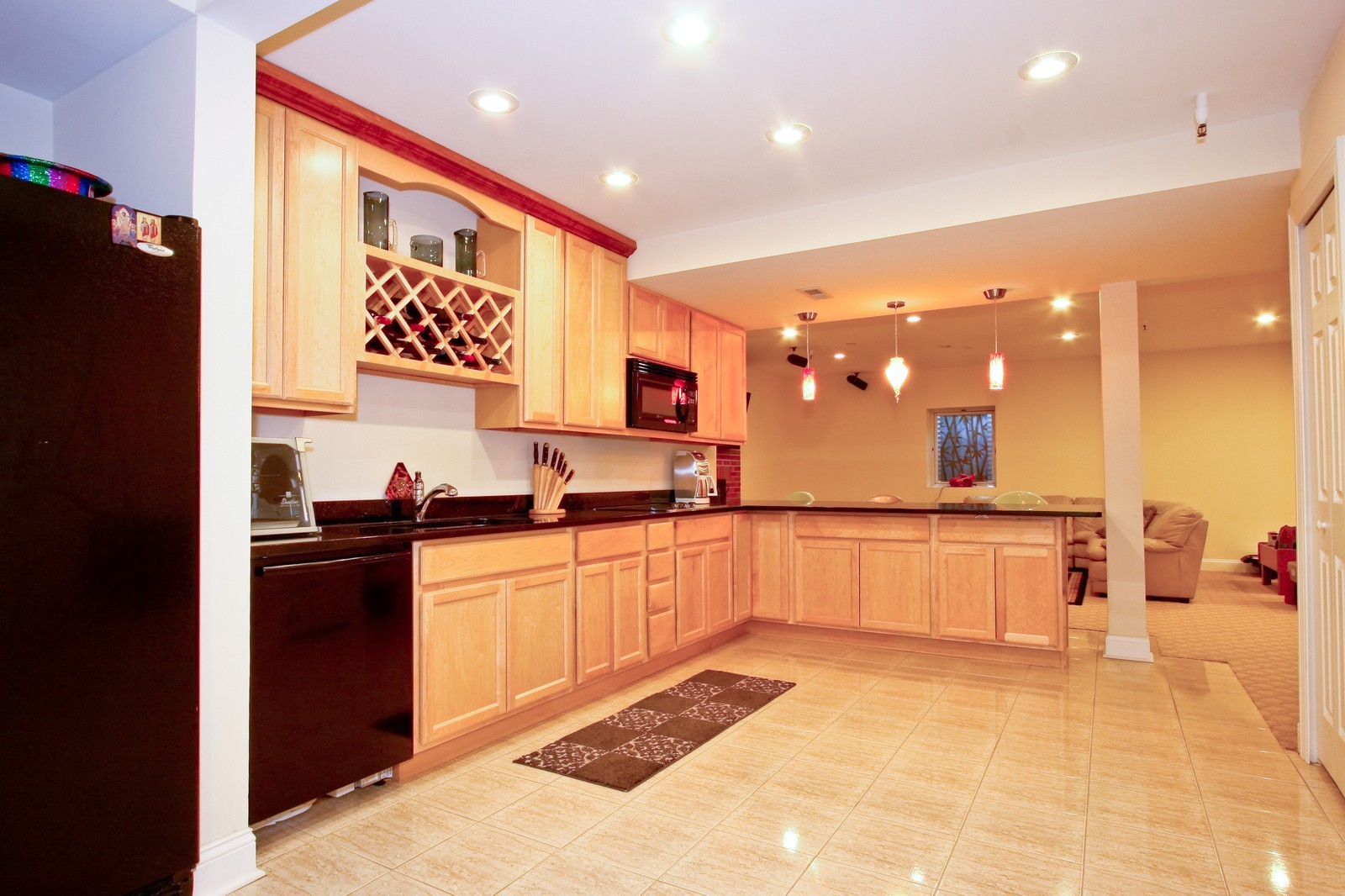 Real Estate Photography - 278 Middaugh Rd, Clarendon Hills, IL, 60514 - Lower Level Kitchen