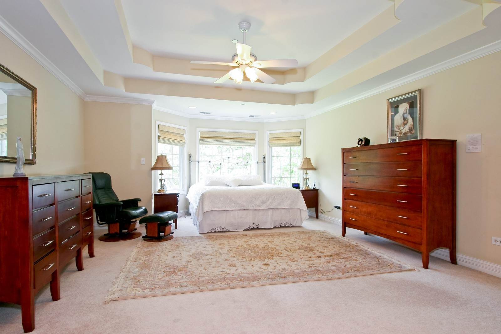 Real Estate Photography - 278 Middaugh Rd, Clarendon Hills, IL, 60514 - Master Bedroom
