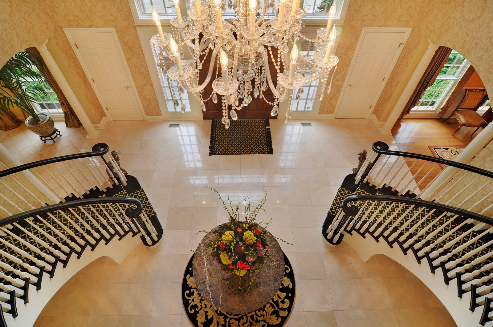 Real Estate Photography - 31 Lake Adalyn Drive, South Barrington, IL, 60010 - 2nd Floor View of Grand Foyer
