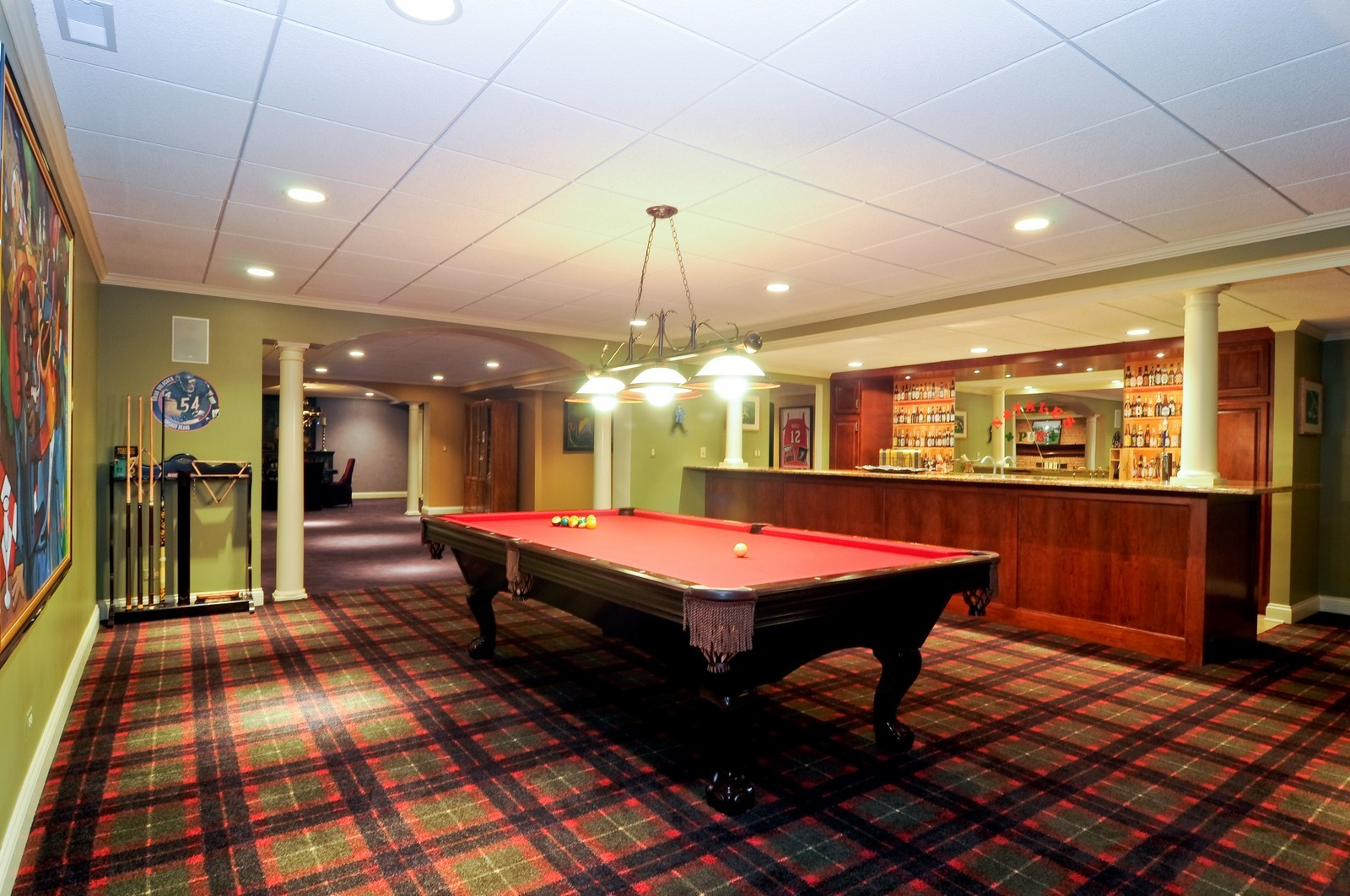 Real Estate Photography - 31 Lake Adalyn Drive, South Barrington, IL, 60010 - Billiards & Bar Room