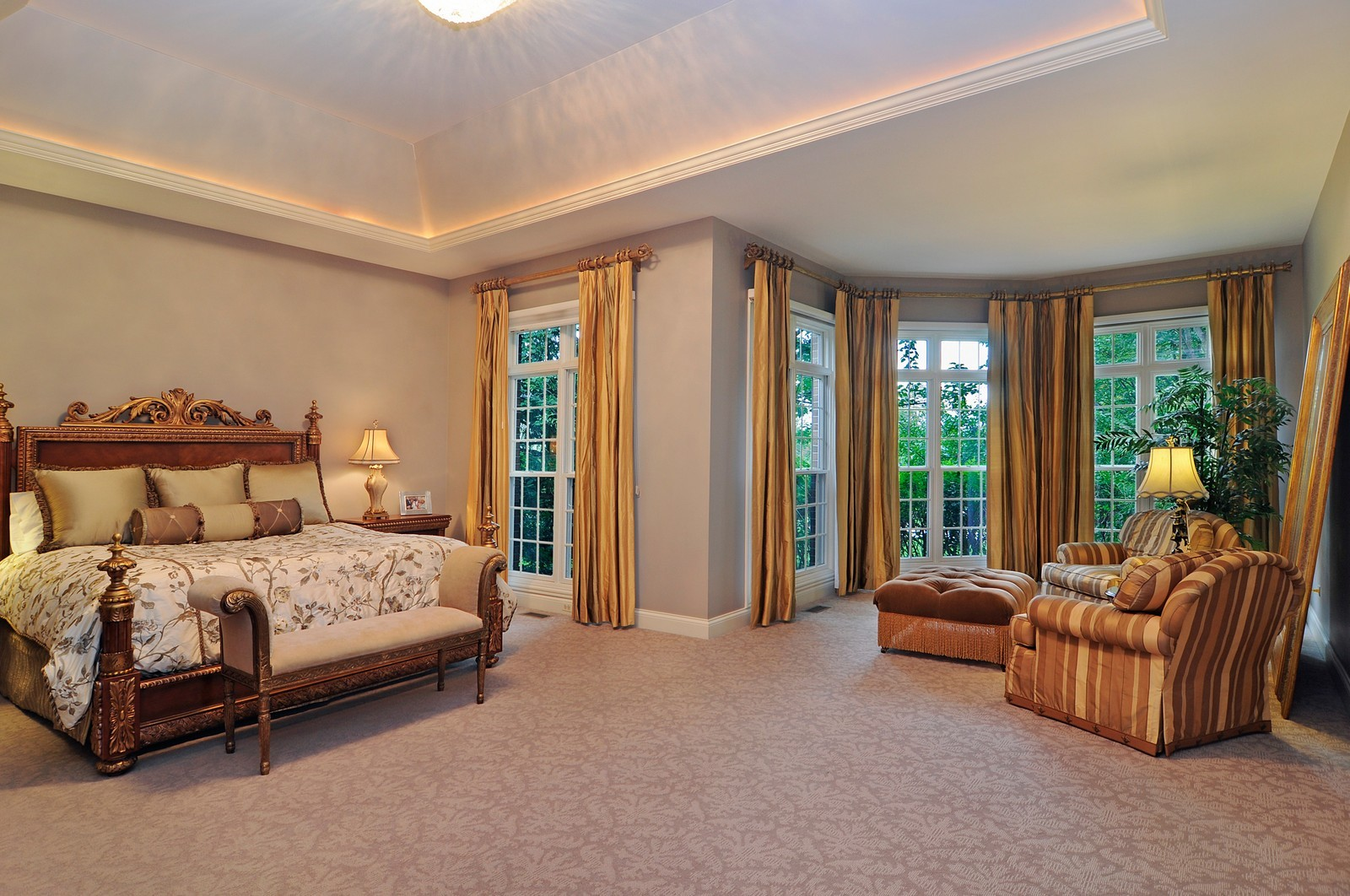 Real Estate Photography - 31 Lake Adalyn Drive, South Barrington, IL, 60010 - Master Bedroom plus Sitting Room