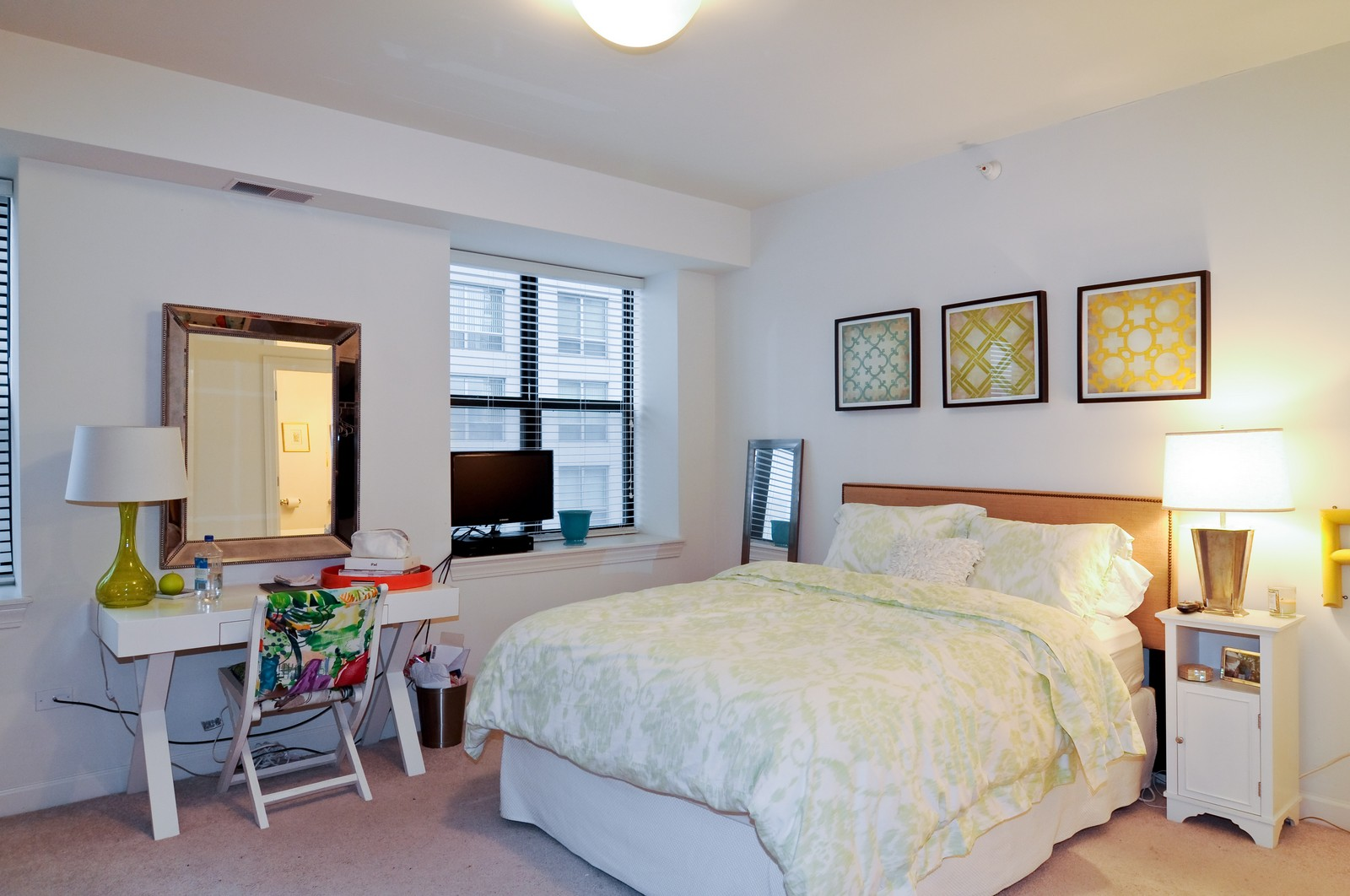 Real Estate Photography - 451 W Huron, Unit 707, Chicago, IL, 60654 - Master Bedroom