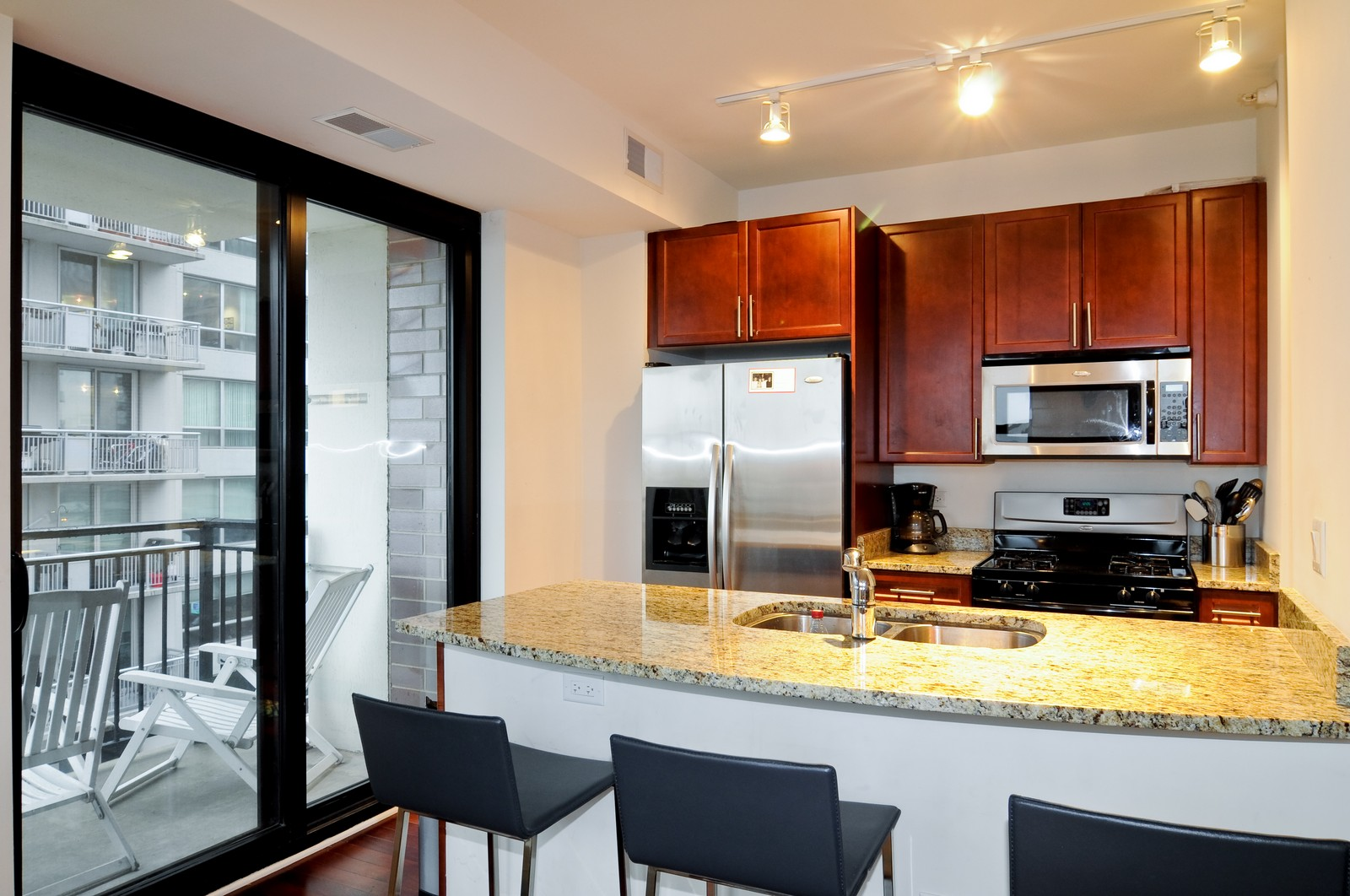 Real Estate Photography - 451 W Huron, Unit 707, Chicago, IL, 60654 - Kitchen