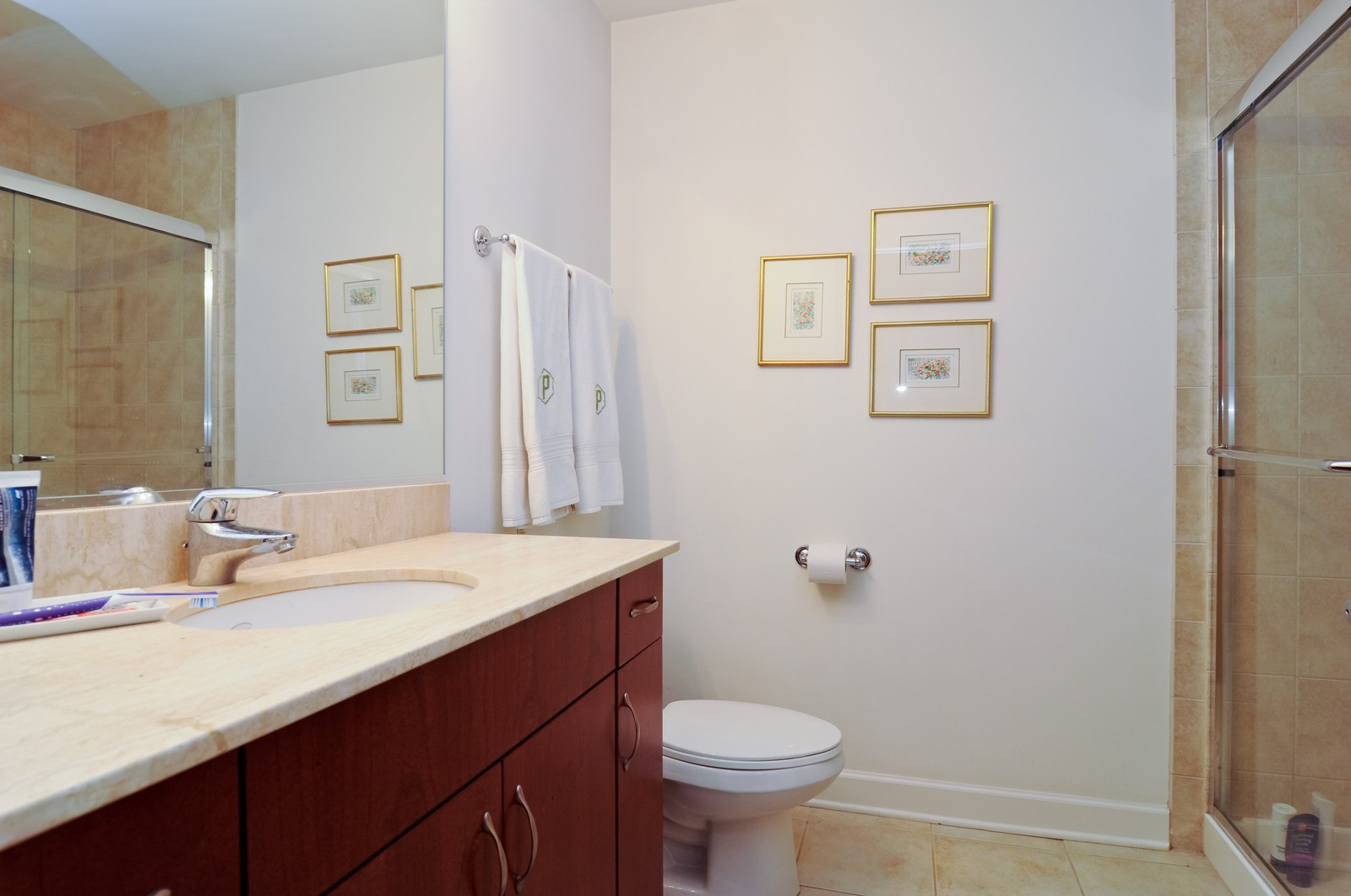 Real Estate Photography - 451 W Huron, Unit 707, Chicago, IL, 60654 - Bathroom