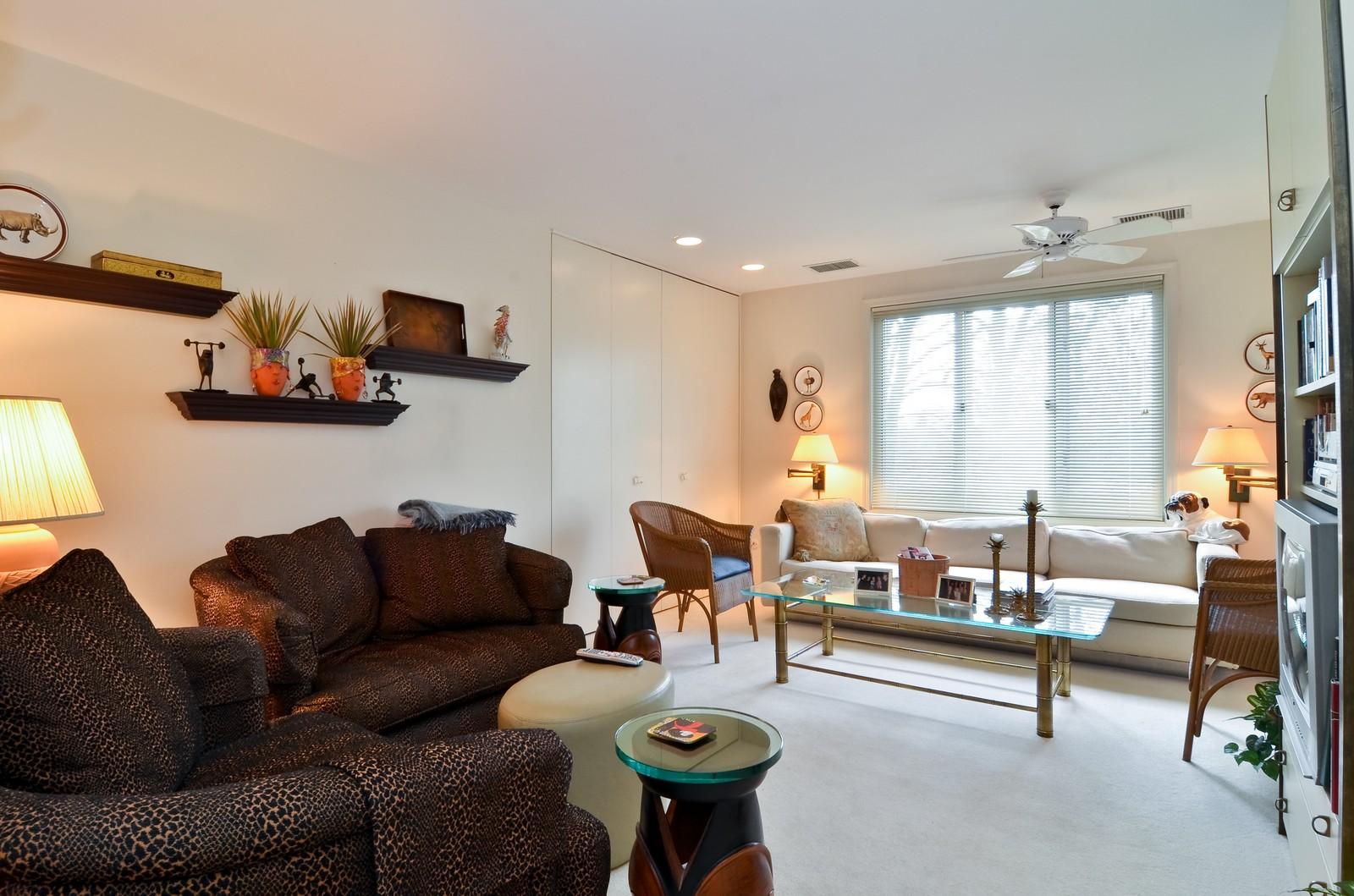 Real Estate Photography - 6450 Cicero, Unit 201, Lincolnwood, IL, 60712 - Den