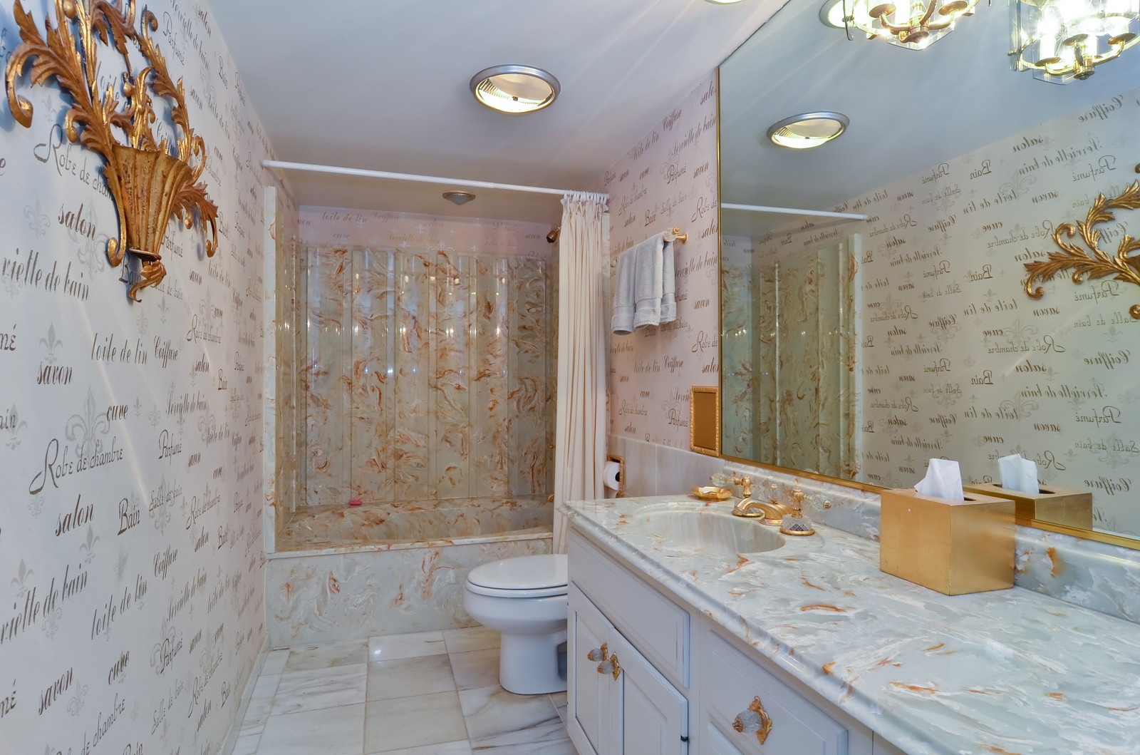 Real Estate Photography - 6450 Cicero, Unit 201, Lincolnwood, IL, 60712 - 2nd Bathroom