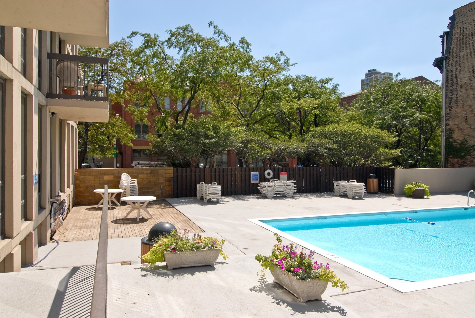Real Estate Photography - 1660 N LaSalle, Unit 409, Chicago, IL, 60614 - Pool