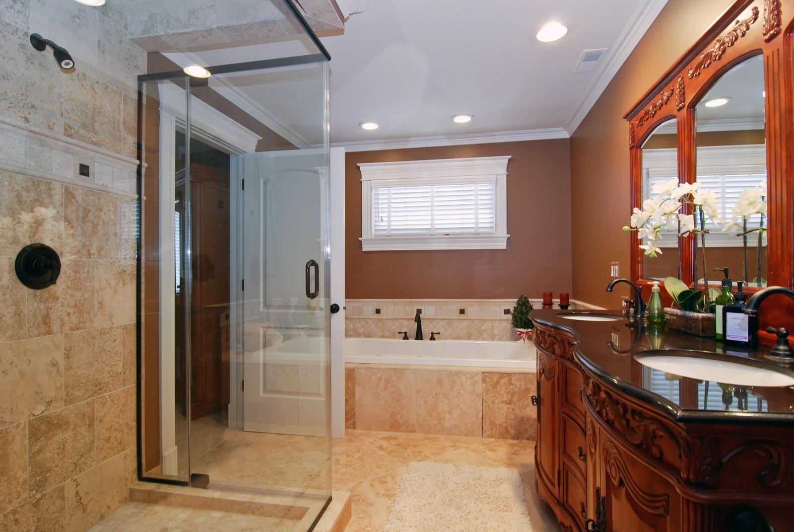 Real Estate Photography - 1064 Cherry Lane, Beecher, IL, 60401 - Master Bathroom